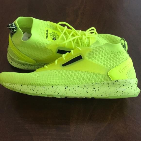 reebok neon yellow shoes - 53% OFF